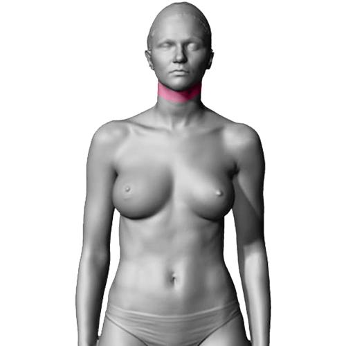 Depilação feminina do pescoço